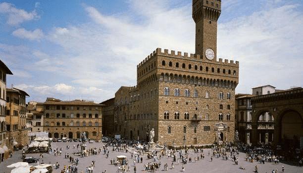 Piazza della Signoria - Firenze - Antiquariato Europeo di Gianluca Scribano