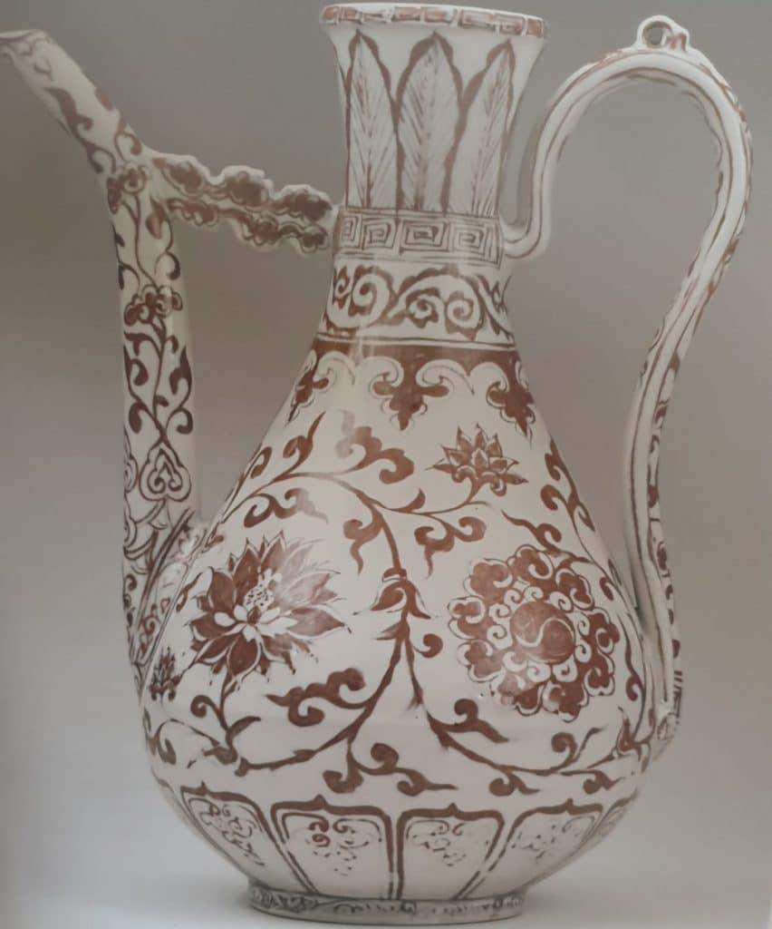 porcellane cinesi Ming , brocca Hongwu