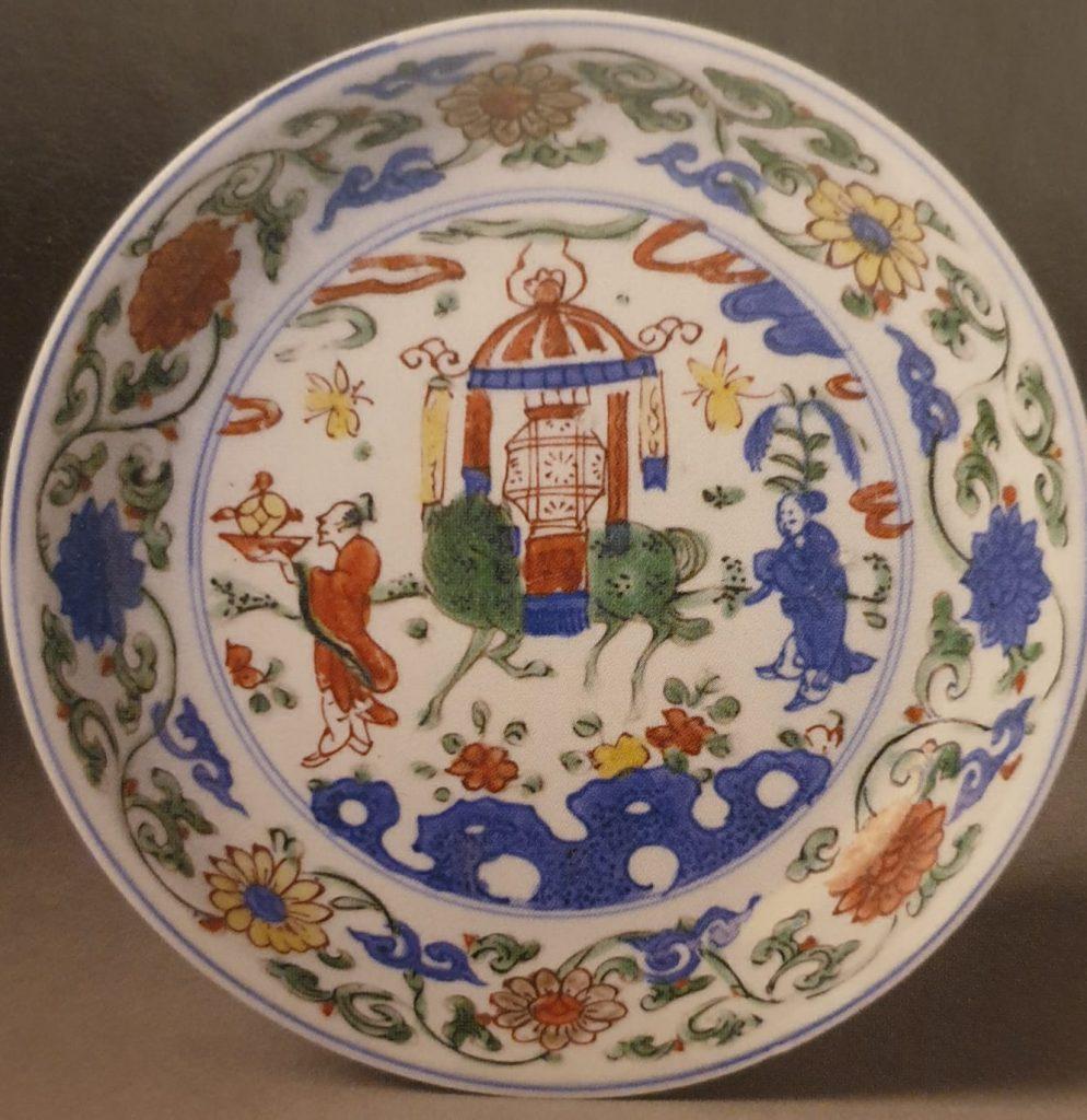 Porcellane cinesi Ming Piatto decoro Doucai